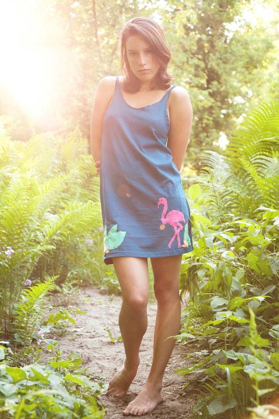 SALE Flamingo Applique Dress
