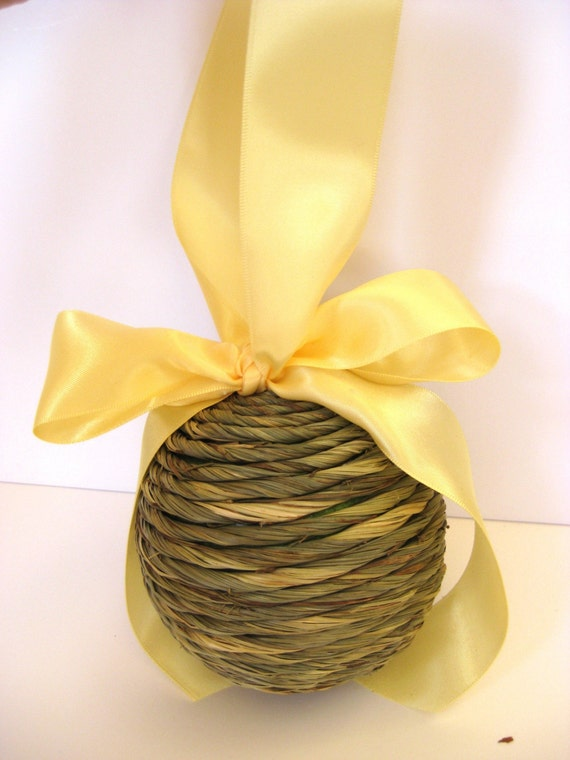 Natural Rope  Pomander Kissing Ball - On Sale 50 Percent Off