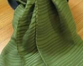 Green Striped Chiffon