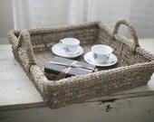 woven basket tray