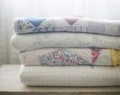 lilac patchwork quilt