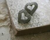 open heart earrings (reserved)