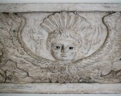 hand carved angel floor board