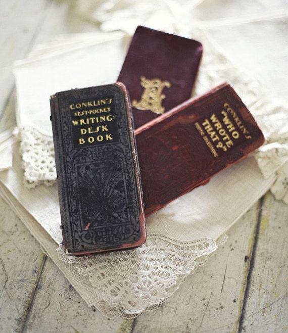 Antique Vest Pocket Books By Sadieolive On Etsy