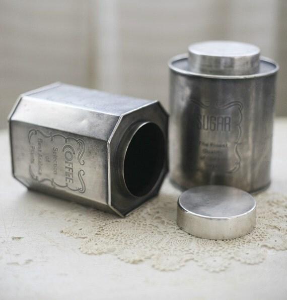 coffee and sugar tins