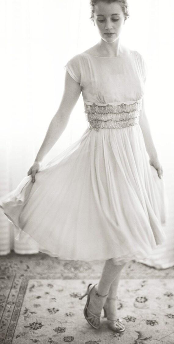 flirty chiffon dress