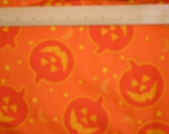 Faye Livermore Burgos for Marcus Brothers Textiles  Smiling Pumpkins Halloween Fabric