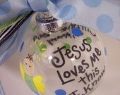 Handpainted Personalized Christmas Ornament