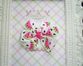 Adorable Bright Pink Watermelon Small Boutique Bow