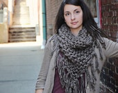 Chunky Cowboy Fringe Bandana Scarf in Barley -WINTER SALE, Clearance, Holiday Specials