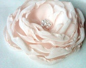 Large Bloom in pale pink - hair clip or brooch - made to order