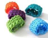 Tunisian Crochet Toe Rings set of 3
