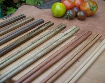 Chopsticks 9 pair of 3 Oregon Hardwoods