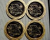 Reserved for Erin Plemon Vintage Souvenir Coasters Set of Four MISSOURI OR BUST