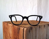 60s black Woody Allen frames eyewear geek horn rim no Rx