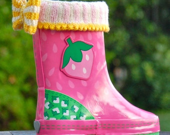 Mini Welly Warmers PDF Knitting Pattern Instant Download