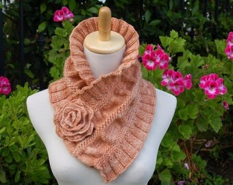 Ruffled and Ruched Scarf PDF Knitting Pattern Instant Download
