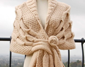 Oscillating Wrap PDF Knitting Pattern Instant Download
