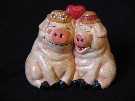 Love Piggy Bank 1970 S Vintage Coin Bank Enesco By