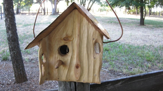 Birdhouse Rustic Copper Roof Sculpted O.O.A.K