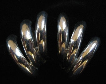 TAXCO, Mexico 1980's Modernist Sterling Silver Earrings