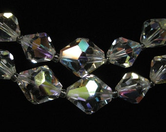 Double Strand AB Crystal Necklace