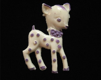 Vintage Celluloid Fawn Brooch, Bambi
