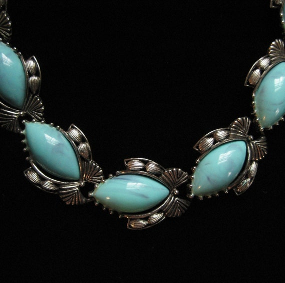 Faux Turquoise Southwestern Look Necklace, 1960s