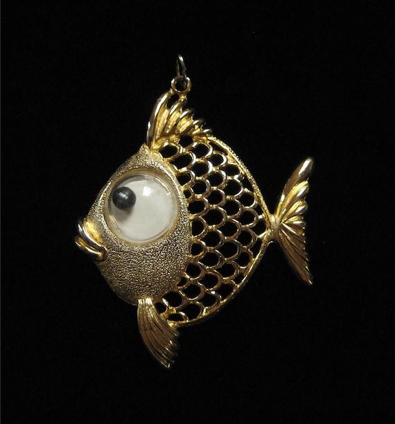 JJ Fish Pendant, Circa 1970's, Big Mod Pendant