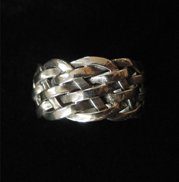 ON HOLD Sterling Silver Five Strand Braided Band Ring, Size 7.5