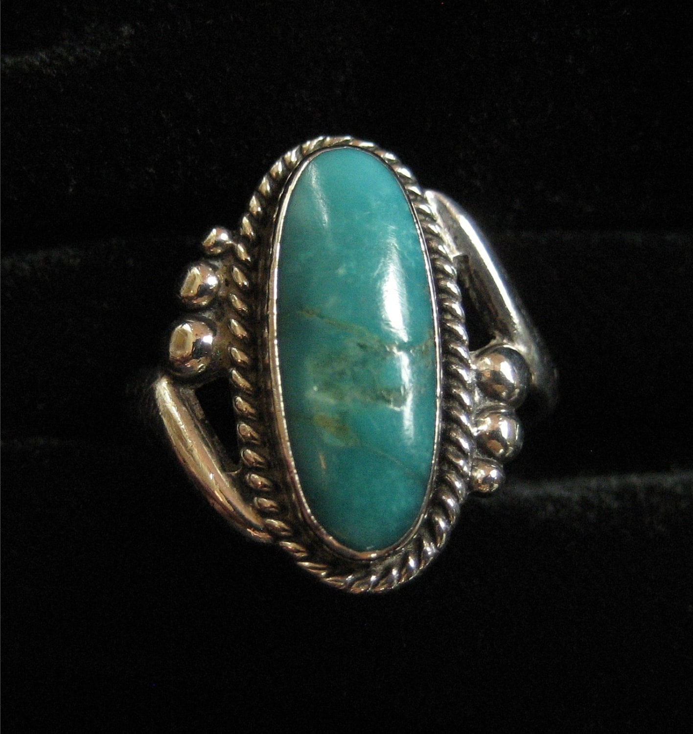 Bell Trading Post Sterling Turquoise Ring 1960's Size