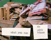 little book - what you can do with boxes