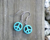 Peace Out Turquoise Earrings