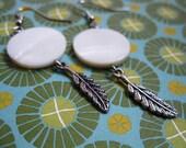 Dreamweaver Feather Dangle Earrings
