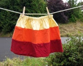 Girls Rainbow Skirt from Upcycled Tshirts Size 5T OOAK