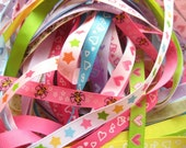 Ribbon Mix Grab Bag Assortment - Buy in Bulk and Save a Lot - 10 Yards of 3/8 inch Ribbons