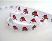 Santa Hats Novelty Ribbon - 1 Yard of 3/8 inch Ribbon