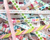 American Crafts Ribbon Mix Grab Bag - 10 12-inch pieces of 3/8 inch Ribbons