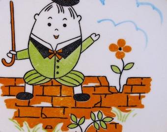 Vintage Humpty Dumpty Child Plate Nippon Yoko Boeki: Before the Fall