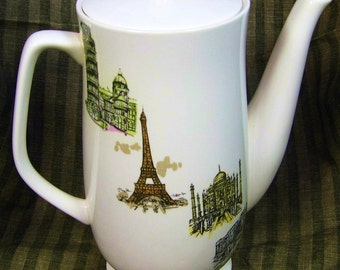 "Vintage Kaysons ""Continental"" 1960s Coffee/Tea Pot: Around the World in a 60s Daze"