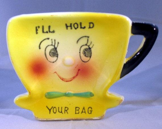 Vintage 1950s Tea Bag Holder