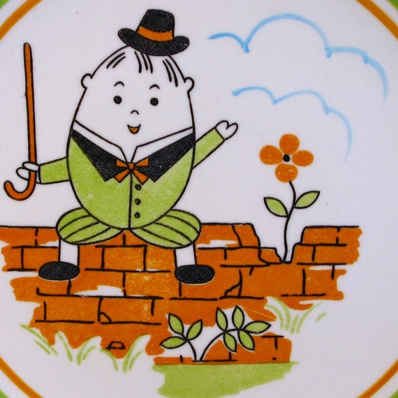 Vintage Humpty Dumpty Child Plate Nippon Yoko Boeki: Before the Fall
