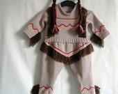 Pocahontas Handmade Knitted Indian Princess Babygrow
