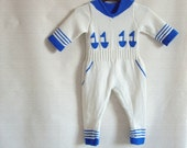 Handmade Knitted Sailor Babygrow Onesie - Cotton, 3-12 months