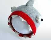Reserved for Marina - Shark Hat for Adult, Knitted Costume