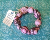 Natural Wood & Cotton Teething Bracelet / Ring, ECO-FRIENDLY
