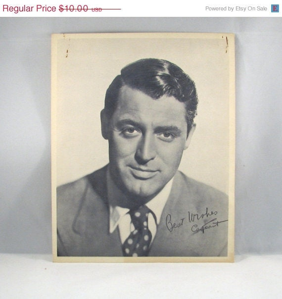 ON SALE - 25% off - 1940 Cary Grant Star Card by Standard Oil