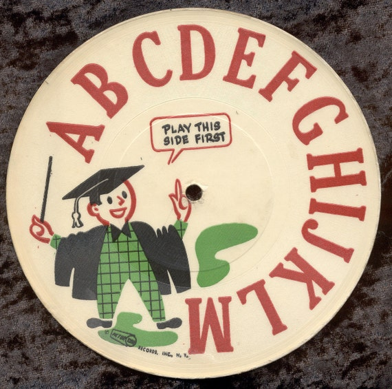 Vintage Childs 78 rpm Record - ABC's by Pictur Tone Records