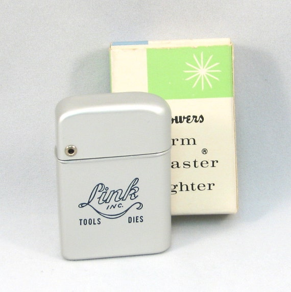 Bowers Storm Master Vintage Advertising Lighter - Link Inc. Tools Dies Never Used in Box