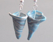 Reserved for machineguts -  Twisters polymer clay tornado earrings
